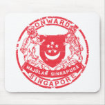 Singapore Coat of Arms Mouse Pad