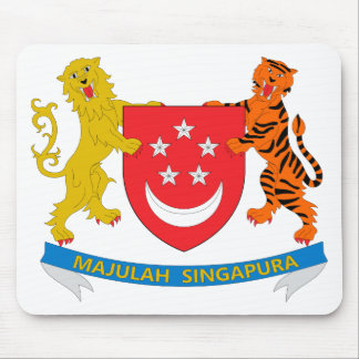 Singapore Coat of Arms Mouse Pads
