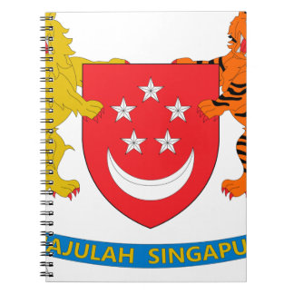 Singapore Coat of Arms Spiral Note Books