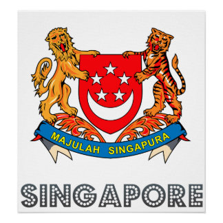 Singapore Coat of Arms Poster