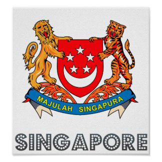 Singapore Coat of Arms Print