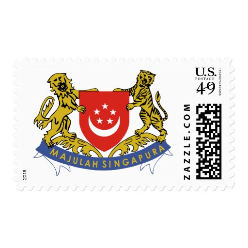 Singapore coat of arms stamps