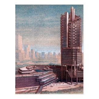 Singapore Conceptual Drawing Postcard