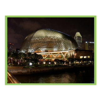 Singapore Cultural Centre At Night In Durian Postcard