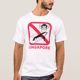 Singapore. Don't Feed The Monkeys - T-Shirt