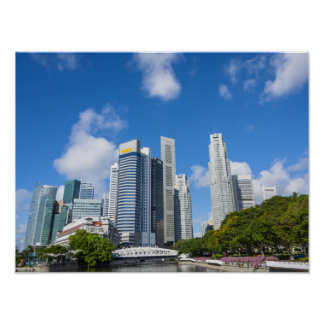 Singapore Finance District Poster