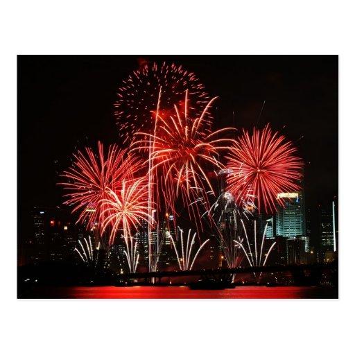 Singapore Fireworks Festival 1 Postcard