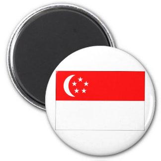 Singapore Flag 2 Inch Round Magnet