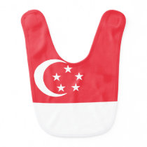 Singapore Flag Baby Bib