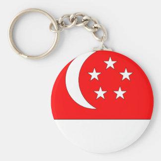 Singapore Flag Basic Round Button Keychain