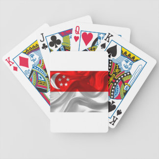 singapore-Flag Bicycle Playing Cards