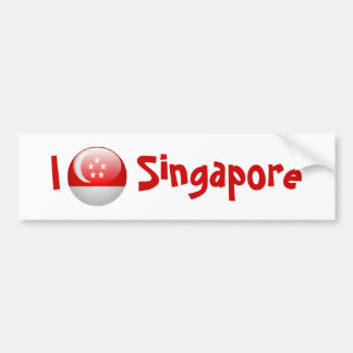 Singapore Flag Bumper Sticker