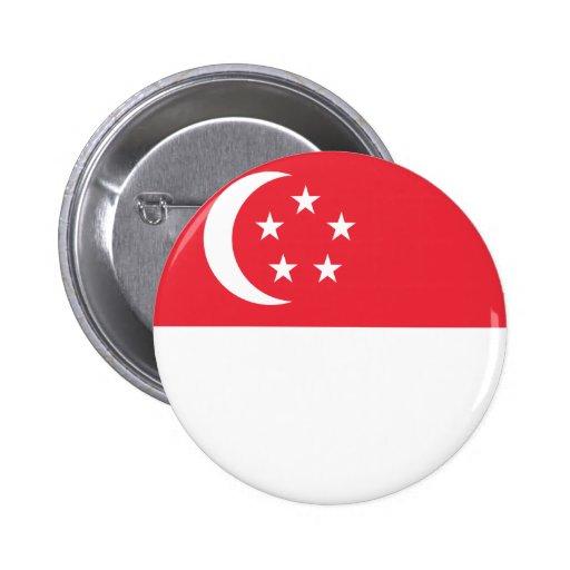 Singapore Flag Pinback Button