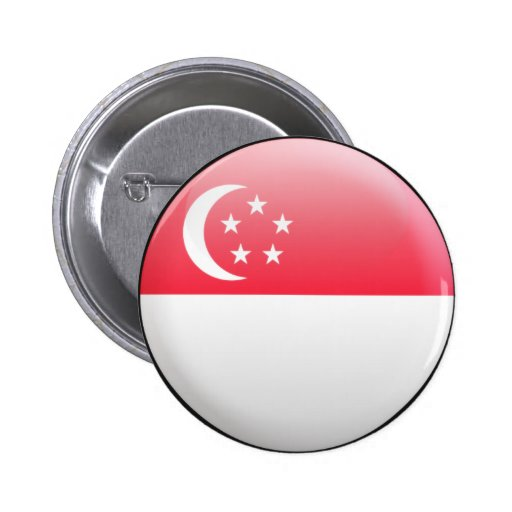 Singapore Flag Pinback Buttons