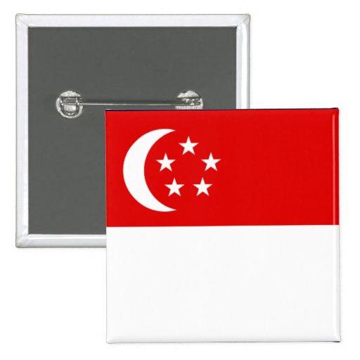 Singapore Flag Button/Lapel Pin