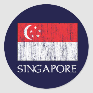 Singapore Flag Classic Round Sticker
