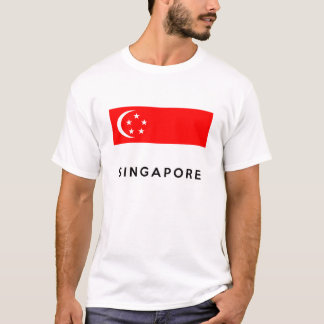 singapore flag country text name T-Shirt