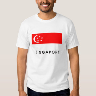 singapore flag country text name tshirt