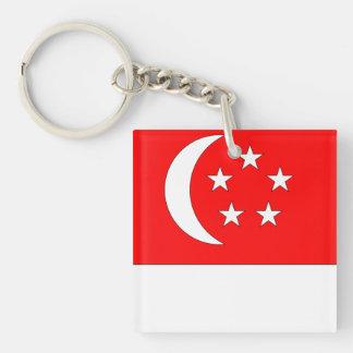 Singapore Flag Double-Sided Square Acrylic Keychain