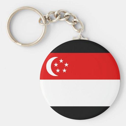 Singapore Flag Key Chain