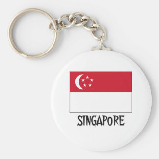 Singapore Flag Keychain