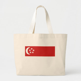 Singapore flag large tote bag