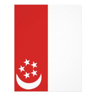 Singapore flag letterhead