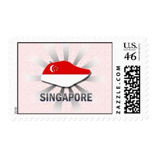 Singapore Flag Map 2 0 Stamp