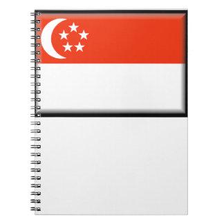 Singapore Flag Spiral Notebook