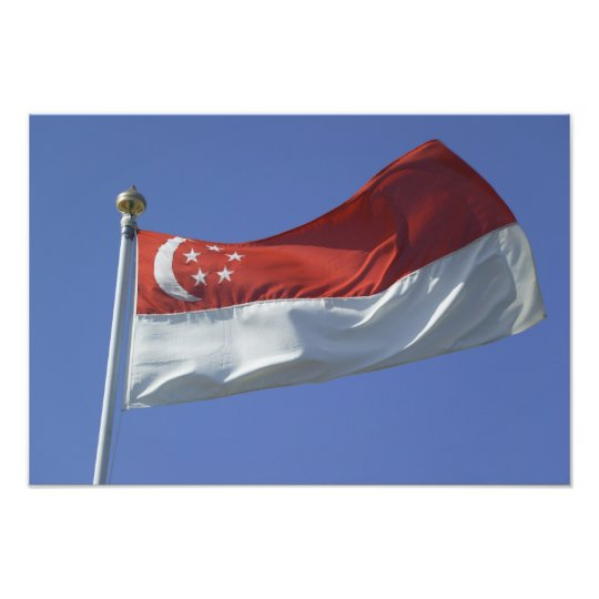 Singapore Flag Photo Print