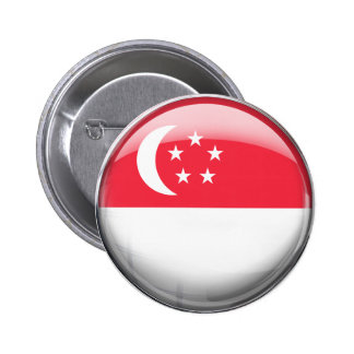 Singapore Flag Pinback Button