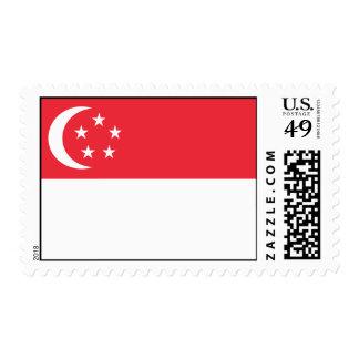 Singapore Flag Postage Stamps