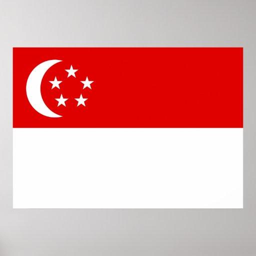 Singapore Flag Print