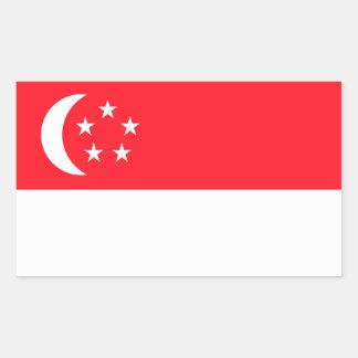 Singapore Flag Rectangle Stickers