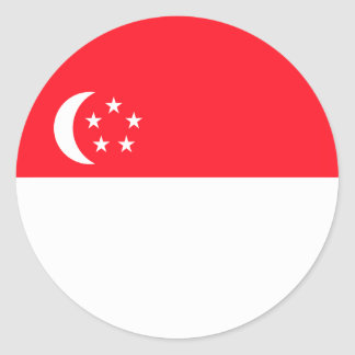 Singapore Flag Round Stickers (pack)