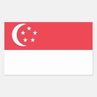 Singapore Flag Stickers* Rectangular Sticker