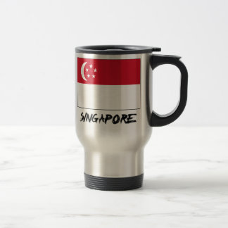 Singapore Flag Travel Mug