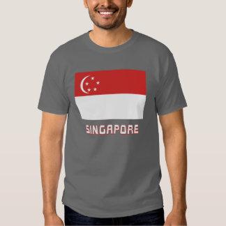 Singapore Flag with Name Tee Shirt