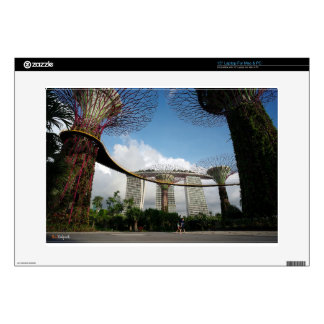 Singapore - Garden By The Bay and Marina Bay Sands Skin For Laptop