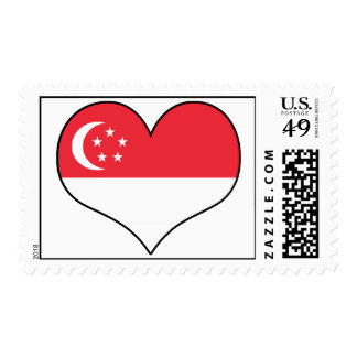 Singapore Heart Postage Stamps