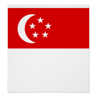 Singapore High quality Flag Posters