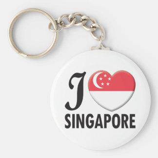 Singapore Love Basic Round Button Keychain