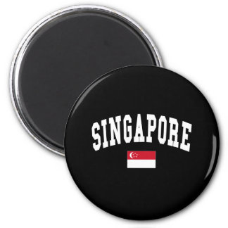 SINGAPORE 2 INCH ROUND MAGNET