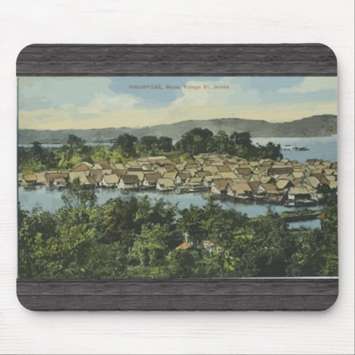 Singapore Malley Valley St. , Vintage Mousepad