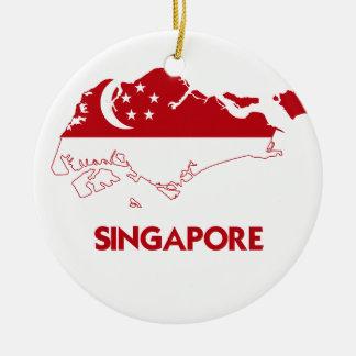 SINGAPORE MAP CERAMIC ORNAMENT