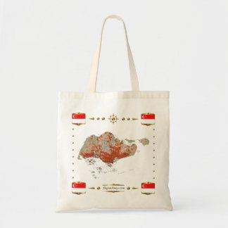 Singapore Map + Flags Bag