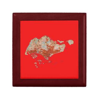 Singapore Map Gift Box