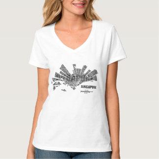 Singapore Map T-Shirt for Women