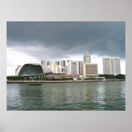 Singapore Marina Bay Poster