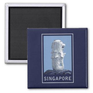 Singapore Merlion 2 Inch Square Magnet